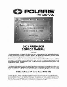 Polaris Predator 500 Parts Diagram