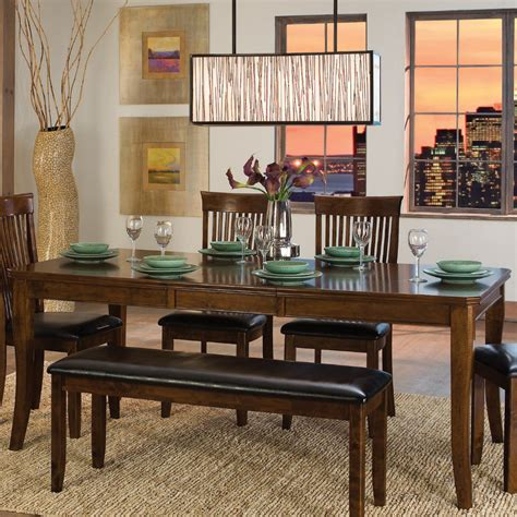 dining room set with bench dining room table with bench seat homesfeed