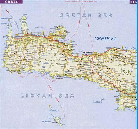 map  western crete crete map kreta karte karte creta