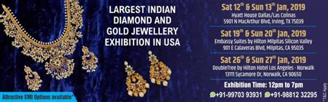 largest indian diamond  gold jewellery exhibition  usa
