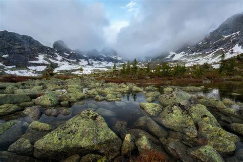 natural park ergaki  real pearl  siberia russia