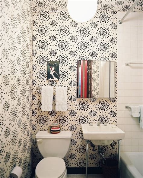wallpapered bathrooms ideas 5 favorites wallpapered powder rooms simplified bee