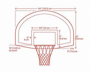 Basketball Backboard Square Template