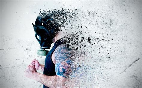 gas masks tattoo men wallpapers hd desktop  mobile