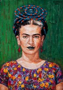 Frida Kahlo Painting by Edward Ofosu | Saatchi Art