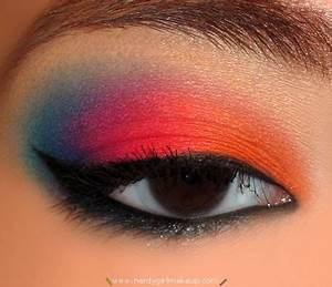 Nerdy Girl Makeup Blog Archive Colorful Bright Makeup Look