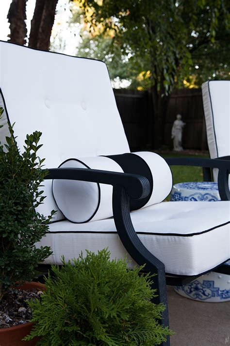 the makerista outdoor cushions with custom details