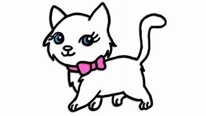 Cat Kitty Draw Drawing Kitten Drawings Things