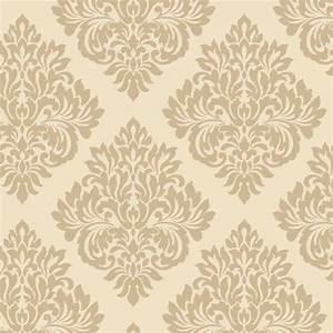 Decorline Sparkle Damask Wallpaper Cream / Gold (DL40213 ...
