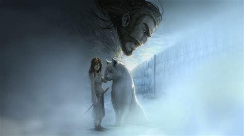 wolf game thrones direwolves arya stark artwork