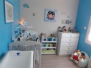 Deco chambre bebe garcon for Idee deco cuisine avec lits jumeaux