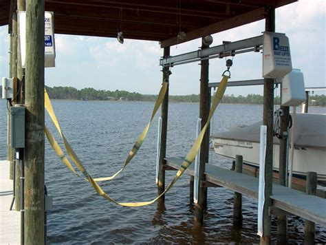 Sling Style Boat Lift by Side Mount Lifts