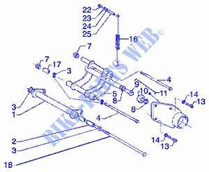 Swinging Arm For Piaggio 180 Super Hexagon Gtx Other Year   Piaggio Vespa Gilera
