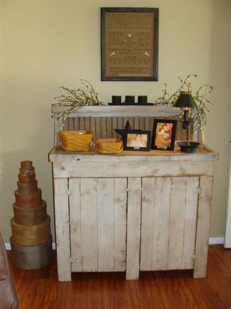 primitive buffet  dining room home    heart