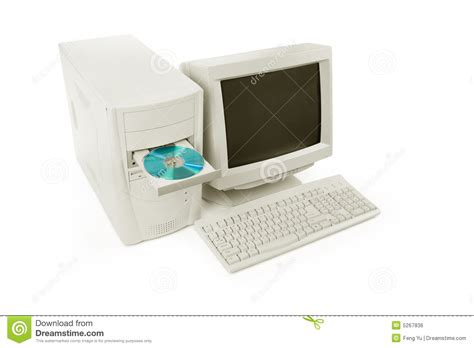 ordinateur de bureau compact ordinateur de bureau image libre de droits image 5267836