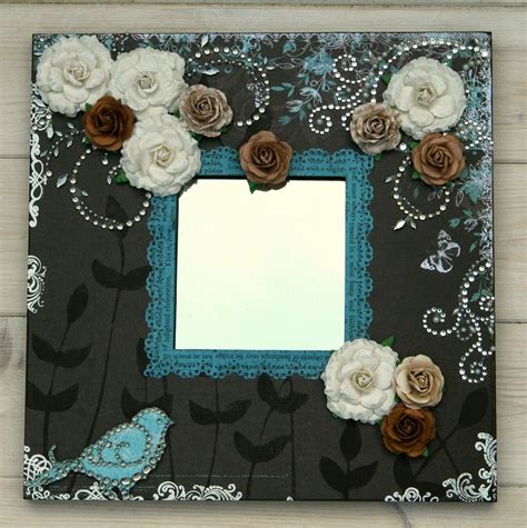 Altered Mirror Mixed Media Art With Scrapbook Adhesives