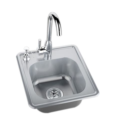 outdoor kitchen sinks and faucets sunstone 17 in 304 stainless steel single sink with cold 7245