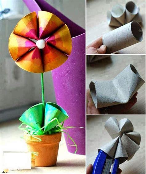 basteln mit kindern ostern dekorationen mit klopapierrollen