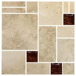 travertine brown glass mosaic kitchen backsplash tile 12 quot x12 quot sheet traditional mosaic tile - Tile Sheets For Kitchen Backsplash