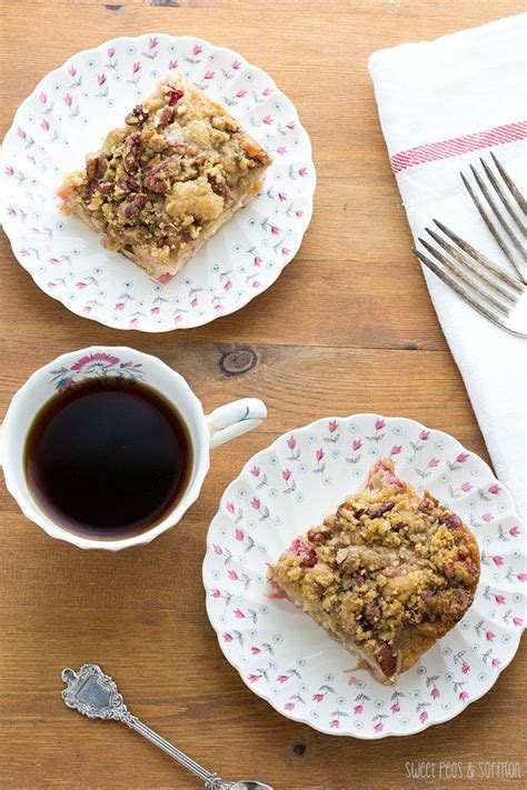 Rhubarb bread or coffee cake. Rhubarb Coffee Cake with Nutmeg & Pecan Streusel   Recipe ...