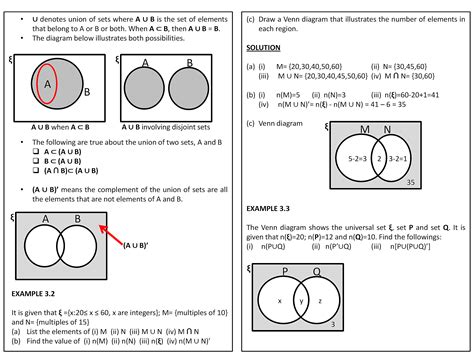 Union And Intersection Math Problems