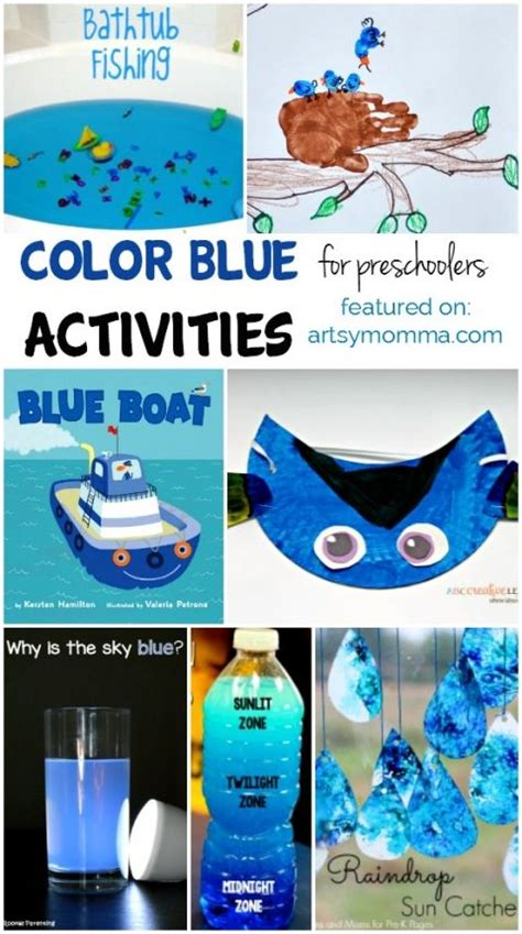 color blue learning activities  craft ideas color