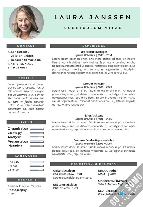 Cv Templates by Cv Template Milan Go Sumo Cv Templates Resume