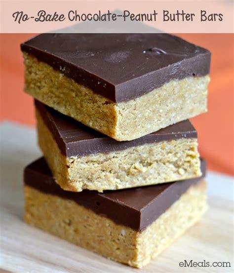 easy dessert recipe no bake chocolate peanut butter bars the emeals