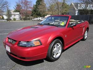 Laser Red Metallic 2002 Ford Mustang V6 Convertible Exterior Photo #63002423 | GTCarLot.com