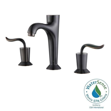 kraus faucets home depot kraus rubbed bronze widespread faucet widespread