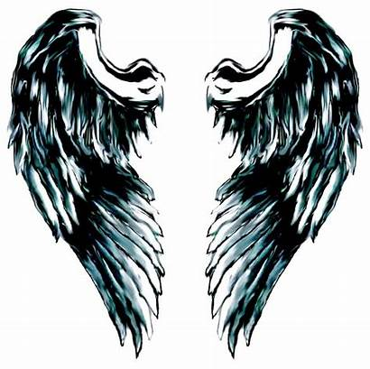 Angel Wings Cliparts Clip Wing Drawing Cool