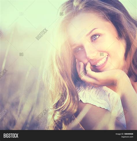 Beauty Fresh Romantic Girl Outdoors Image And Photo Bigstock