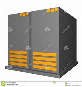 Server Object For Diagram And Presentation Royalty Free