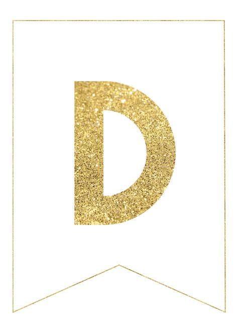 Letter Print by Gold Free Printable Banner Letters Paper Trail Design