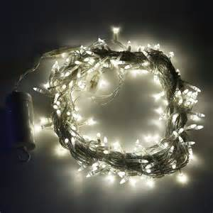 lights com string lights christmas lights soft white 200 led clear strand battery string