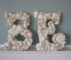 shell letters for beach decor any 2 nautical decor With seashell wall letters