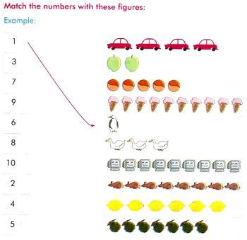 matching numbers worksheets free worksheets by counting
