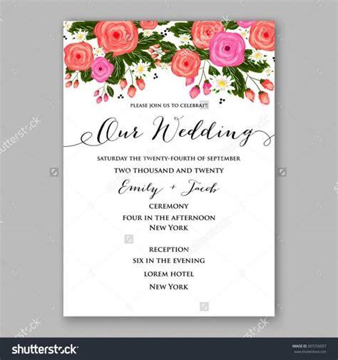 wedding invitation printable template  floral wreath