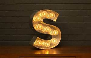 marquee light up letter s goodwin goodwintm london With light up letter k
