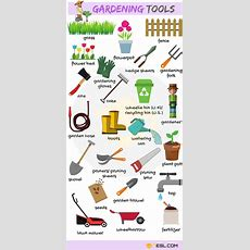 Learn Gardening Tools Vocabulary In English  English Vocabulary  English Vocabulary, English