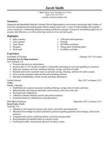 customer service representative resume bank customer service representative resume sle my