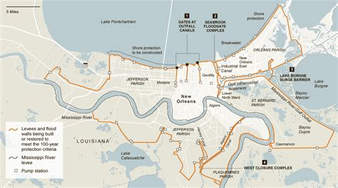 The great mississippi river flood of 1927. Building a Ring Around New Orleans - Map - NYTimes.com