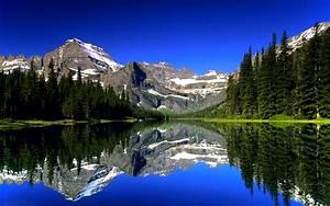 Awesome mountain lake hd #wallpaper