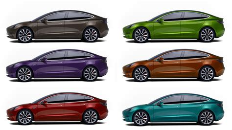 tesla model s colors what s your top for model 3 paint color ev network