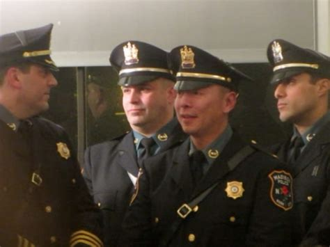 madison police chief appointed officers promoted
