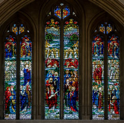 stained glass window wells cathedral  julian p guffogg