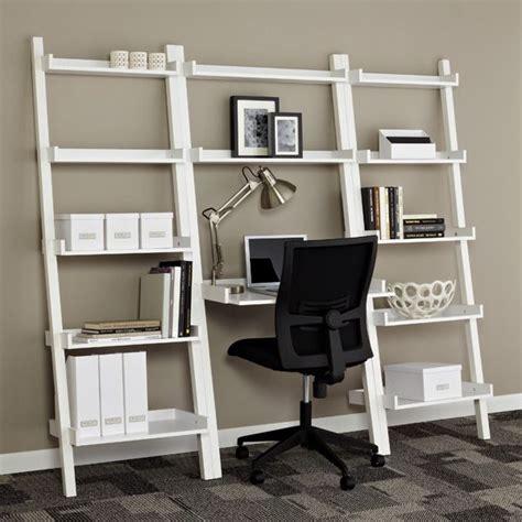 ladder shelf desk white white linea leaning bookcase shelving sale 104 25