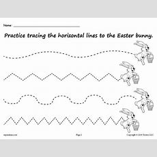 Free Printable Easter Bunny Line Tracing Worksheets! Supplyme