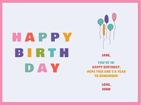 create personalised birthday cards designs  designwizard