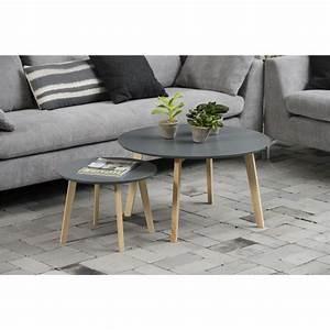 Petite Table Basse : table basse bolina petite d50cm table d 39 appoint plateau laqu gris mykaz ~ Teatrodelosmanantiales.com Idées de Décoration